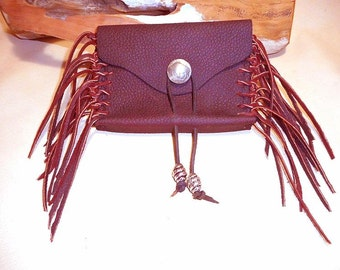 Pouch for Belt- Buffalo Nickel- Fringed Leather-Sale