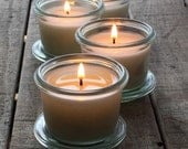 Sample Size Candle Set of four