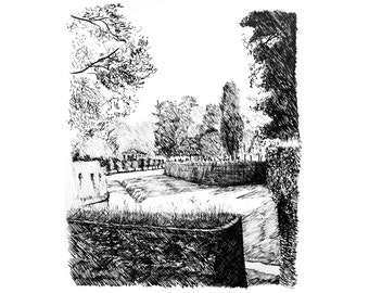 the walls of Lucca — limited edition archival mounted print