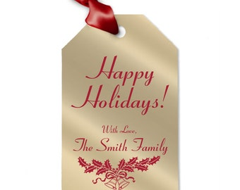 Happy Holidays Personalized Gift Tag