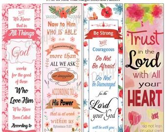 Bible Journal or Planner Printables for Wide Margins Planner Sticker Decoration, or Bookmarks  Instant Download
