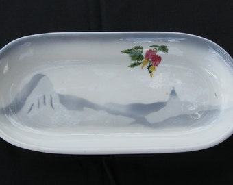 """Sterling Steamship Hotel China Moore-McCormack Lines """"Rio"""" Celery Tray"""