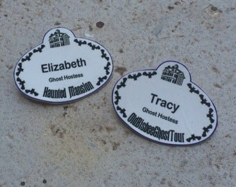 Custom Disney Inspired Cast Member Name Tag