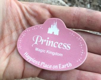 Princess Disney Inspired Name Badge