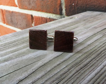 Rosewood Wood Cuff Links Handmade