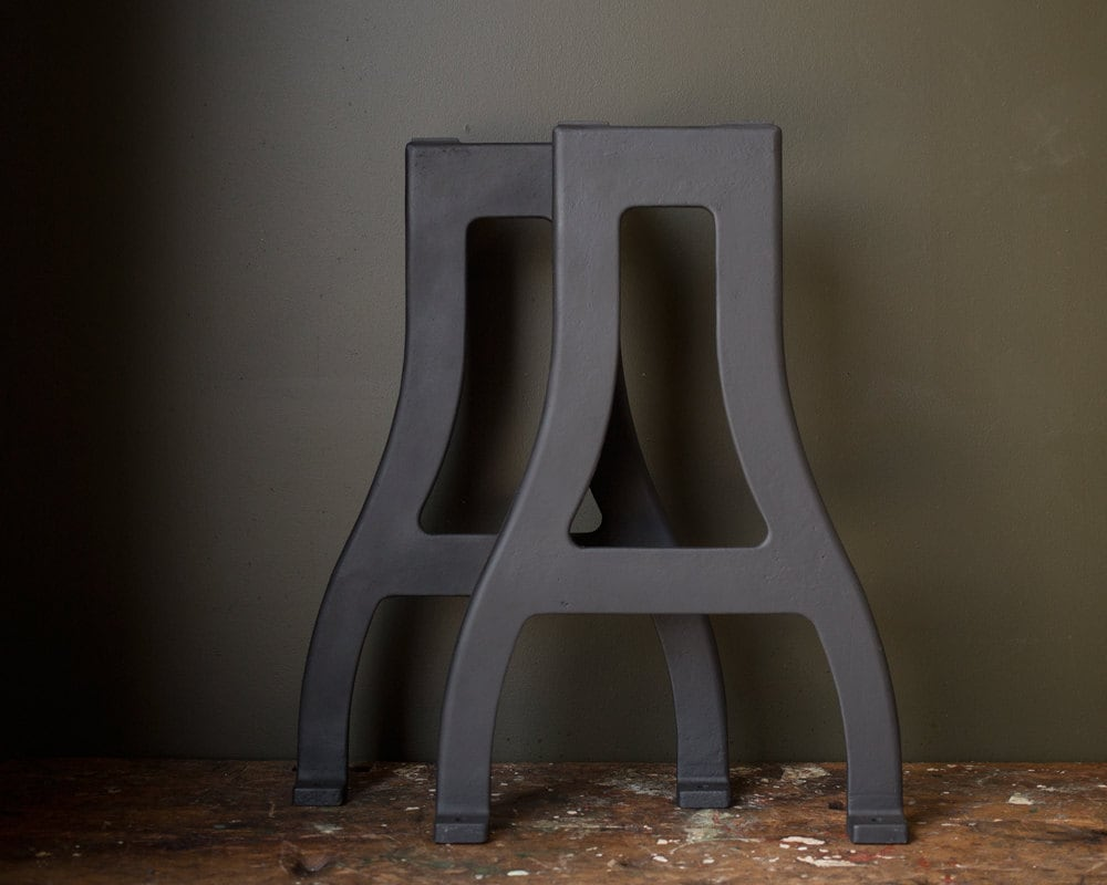 Vintage industrial table legs 1940 39 s original by for Old iron table legs