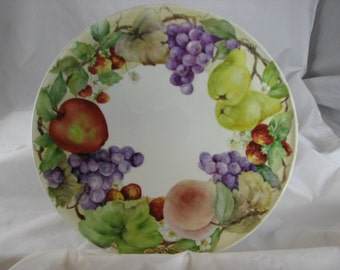 Fruit hand painted on a Porcelain tray or platter