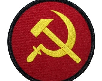 Hammer & Sickle Soviet Russia Icon Communist Party Symbol Iron On Applique Patch