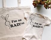 I'm so RADish! Tote Bag - Canvas Tote - Recycled Tote Bag - Market Tote Bag - Radish