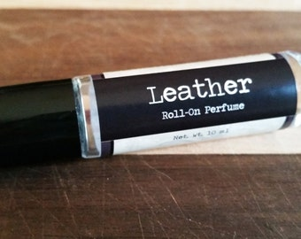 SALE - 10ml Men's Roll On Cologne - Leather Roll On Perfume - Men's Fragrance - Gift for Him - Vegan Cologne - Vegan Perfume