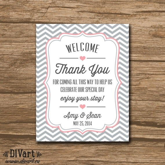 Welcome Bag Tag, Wedding Favor Tags, Hang Tags, Thank You Tags ...