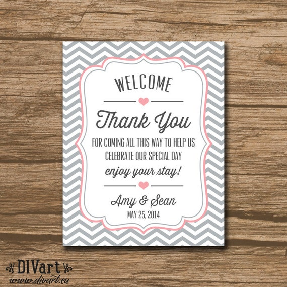 Wedding Favor Bag Tags : Welcome Bag Tag, Wedding Favor Tags, Hang Tags, Thank You Tags ...