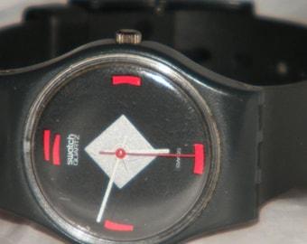Vintage 1984 Swatch Mah-Jong  LA101 Swatch Swiss Watch