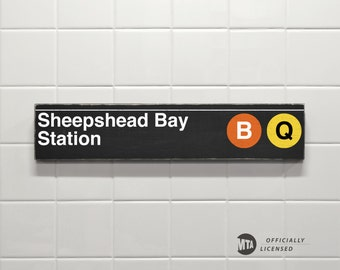 Sheepshead Bay Station - New York City Subway Sign - Wood Sign