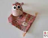 Fleur - Owl Doll with Bag: plush, keychain, children, kid, baby, cute, kid, boy, kawaii, plaid, fabric, iammie, little, flower, iammie,