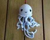 Light blue crochet jellyfish