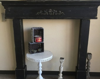 Mantle With Surrounds, Large Mantle, French Country Mantle and Surrounds, Mantle Legs, Primitive Mantle with legs, Fireplace Surrounds