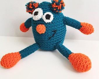 Pogo the Monster Amigurumi Crochet Pattern- Stuffed Monster Softie Pattern- Crochet Boy Toddler Toy- Kids Toy Monster Crochet Pattern