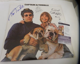 Captain and Tennille Autographed - Love will Keep Us Together Album (JSA )