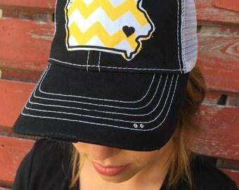 Iowa Chevron Bling Trucker Hat