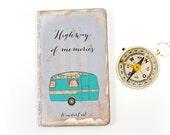 Custom Travel Journal, Personalized Road Trip Notebook, Highway, Camper, Honeymoon, Wanderlust, Camping Travel Log, Travel Memories Diary