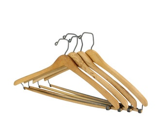 Vintage Unfinished Wooden Pants and Suite Hanger // Vintage Pants Suit Hanger (h0008)