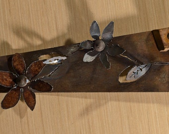 Made to Order- Hand (plasma) cut handsaw with a flower design