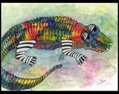 Print Raining Color Alligator