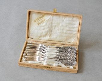 Vintage cake forks cake silver-pleated flatware dinner table wedding