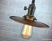 Barn Lighting - Industrial Pendant Lights - Copper Shade - Ceiling Light - Industrial Lighting - Edison Bulb Pendant Lamp
