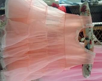 Baby Girls Apricot Color Full Petticoat/Crinoline Pink Ruffled Full Dress