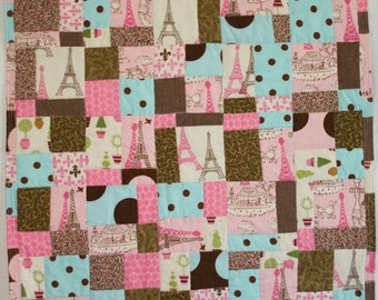 No. 29 Fractured Four-Patch (Copyrighted), Paris Pink Miniature Quilt