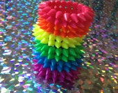 Neon Rainbow Spike Stretch Bracelet - 1 of Your Choice