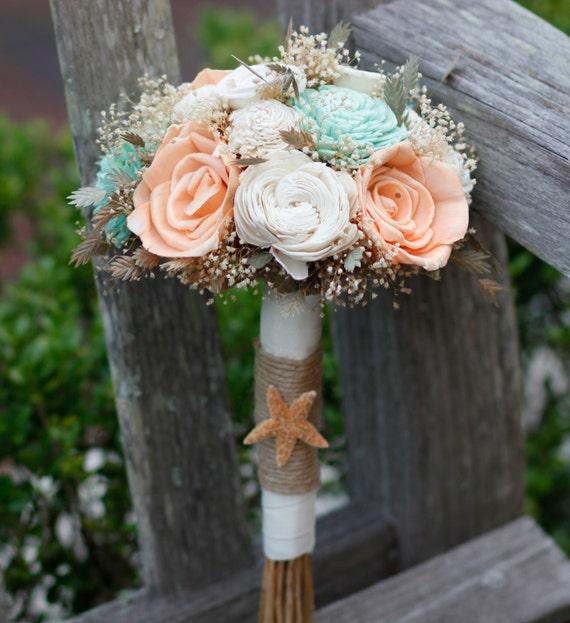 Small Beach Wedding Ideas: Sola Bouquet.Peach BouquetMint BouquetBeach