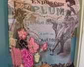 BELLE EPOCH BOHO Top, 16/18,Collage Art to Wear, Dusty Pink/Peach/Browns, Lots of Lace, Floral Appliqués, Gypsy Junk, Altered Couture