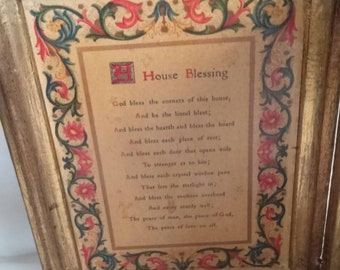 Vintage Italian Florentine Prayer Religious French
