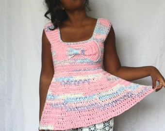 The Be Mine Crochet Top Pattern. Instant Download!