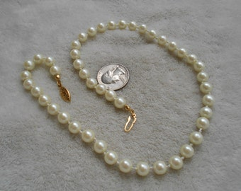 Vintage Necklace- Faux pearl Beads-N1644