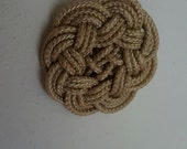 Nautical Buttons, Hand Tied, Macrame, 2 inch, Golden color# 110