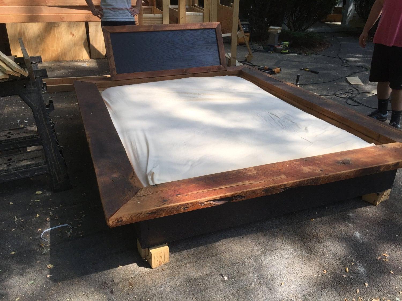 Queen Barn Floating Platform Bed