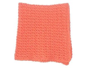 Crib Afghan, Crochet Baby Afghan, Orange Blanket, Crochet Afghan, Orange Baby Blanket, Orange Afghan, Mango Blanket, Stroller Afghan, Pram