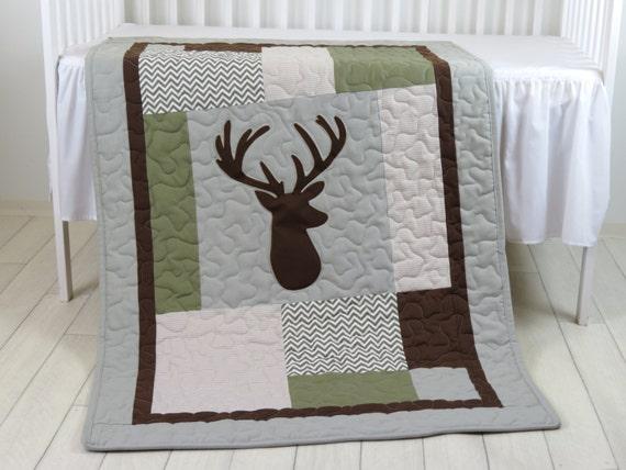 Deer Crib Bedding Deer Crib Quilt Deer Baby Blanket Deer