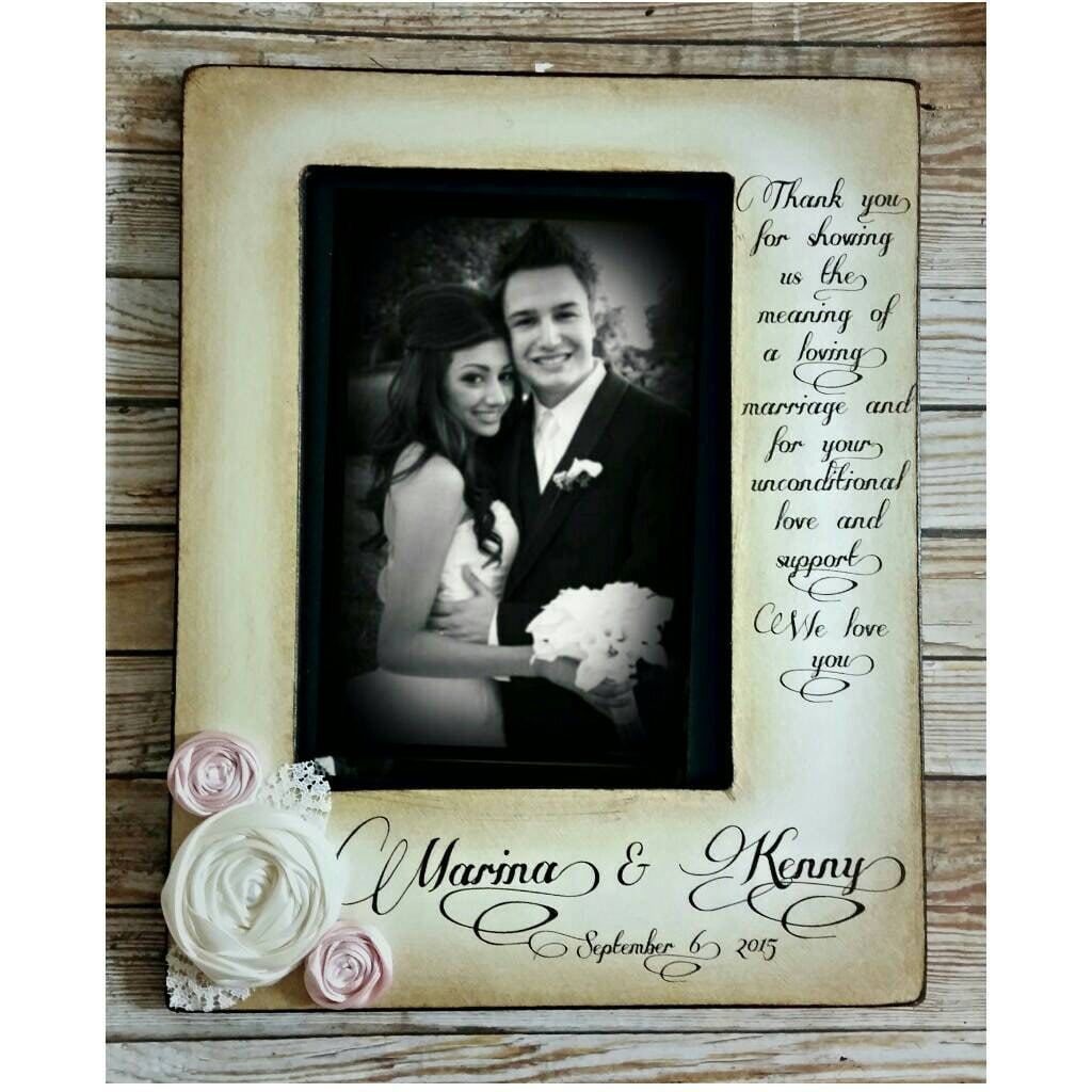 Thank Wedding Picture Frame Parents Of The Bride Groom Gift