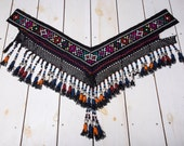 19 x 41 Tassel Vintage Uzbek Tassel Segusha Old Tassel Ethnic Belly Dance Accessory Ethnic Tassel Dancing Belt FAST SHIPMENT - tassel-238