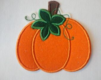 Pumpkin Patch, Sparkle Felt Pumpkin Patch, Pumpkin Iron On Patch, Fall Patch, Pumpkins, Fabric Pumpkins, Felt Pumpkins