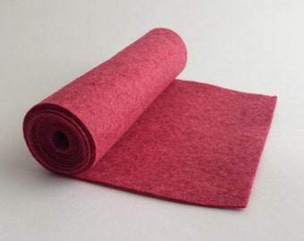 SALE 5x36 Ruby Wool Blend Felt Roll