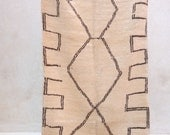 "LIVING in the SUNLIGHT 6'1"" x 3'1"" Boucherouite Rug. Tapis Moroccan. Mid Century Modern Danish Design Compliment."