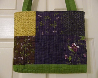 Tote Bag, Quilted Tote Bag, Quilted Purse, Quilted Bag, Mother's Day, Poolside Tote