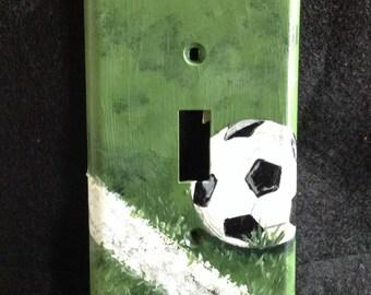 Soccer Light Switch Plate