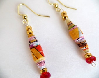 Colorful Paper Earrings